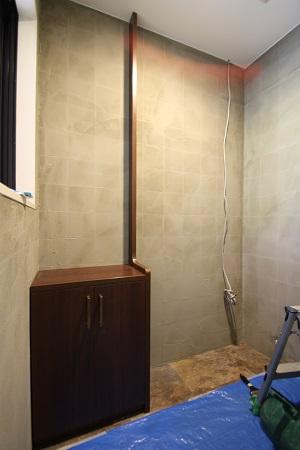トイレ 造り付け手洗い台設置①