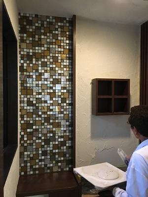酸性白土塗り壁材深呼吸 (壁施工③)