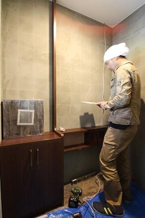 トイレ 造り付け手洗い台設置②