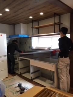 キッチンカウンター設置